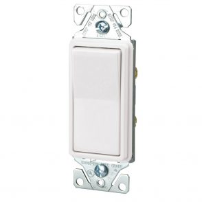 Hardwired Decorative rocker switch white