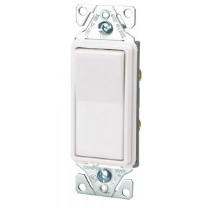 Hardwired Decorative Rocker Switch, White