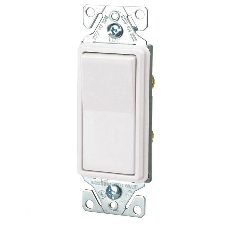 Hardwired Decorative rocker switch white
